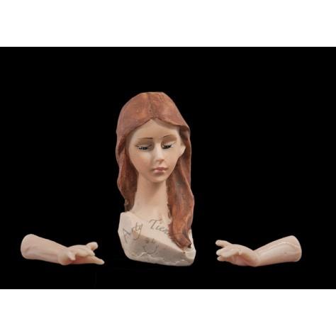 Angel estilizado 25 cms en resina italiana