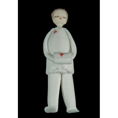 Prendedor enfermero en porcelanicron