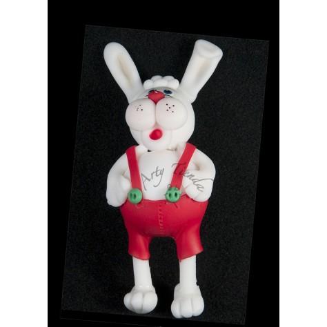 Aplique conejo en porcelanicron