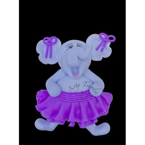 Aplique elefanta en porcelanicron