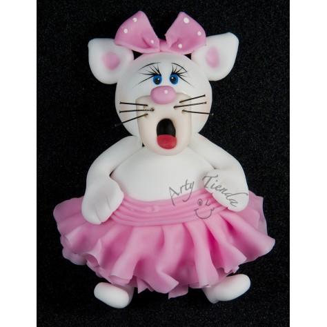 Aplique gatica en porcelanicron