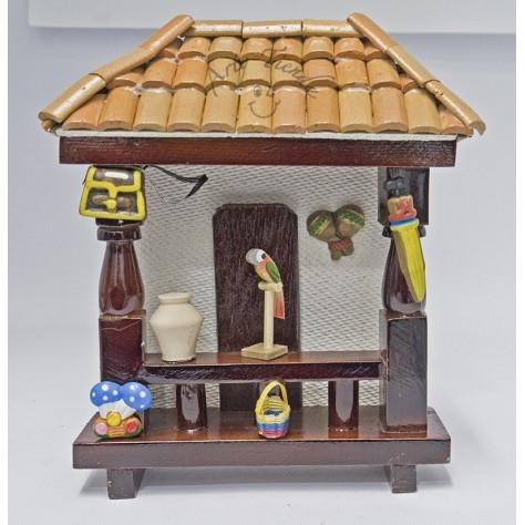 Balcón juego 1 en madera y teja de barro