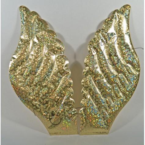 Aureola alas en tela satinada.  ( 2 Uni.)