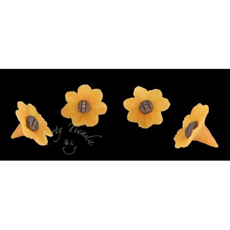 Flores girasol en porcelanicron