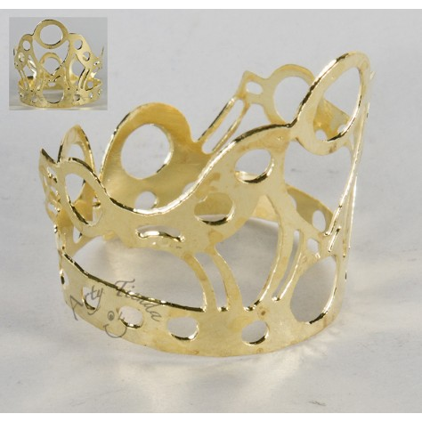 Corona Auxuliadora Reina en lámina de bronce.