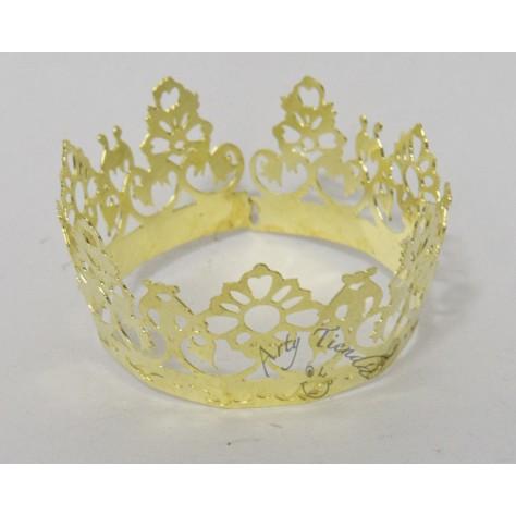 Corona Auxuliadora en lámina de bronce.