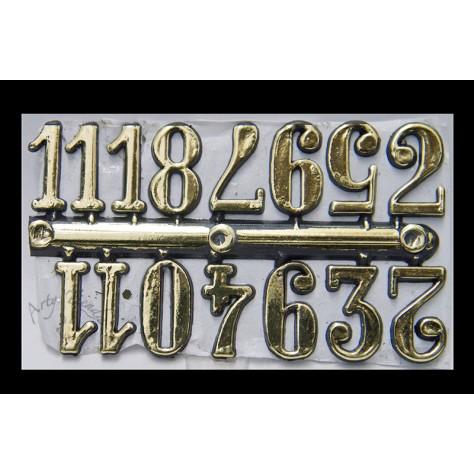 Números arabigos dorados grandes
