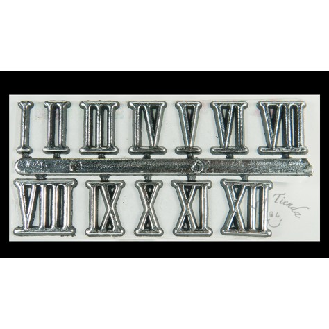 Números romanos plata pequeños