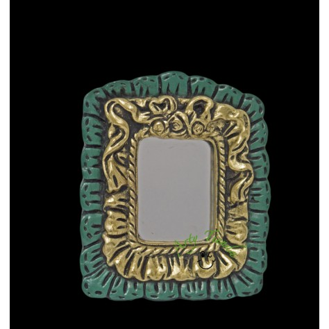 Espejo cuadrado encaje  pequeño en fibromadera