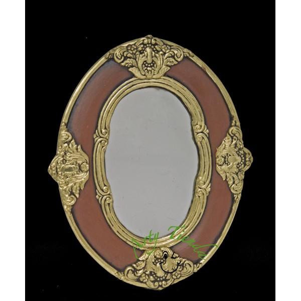 Espejo ovalado cuatro apliques en fibromadera artytienda for Espejo ovalado madera