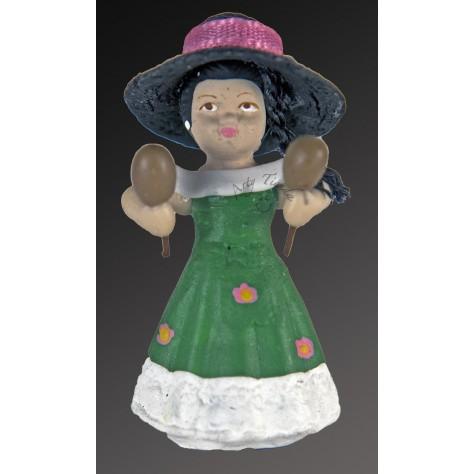 Muñeca Llanera en resina y porcelanicrón.