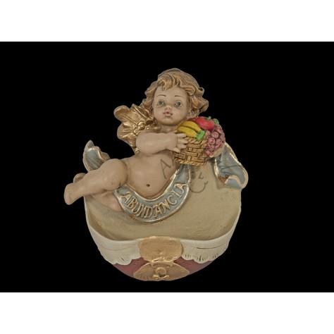 Angel en pila aplique abundancia en fibromadera