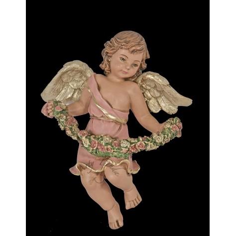Angel abundancia aplique grande en fibromadera