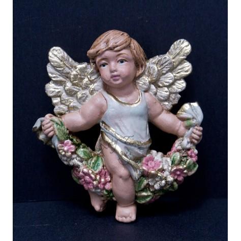 Angel abundancia aplique pequeño en fibromadera