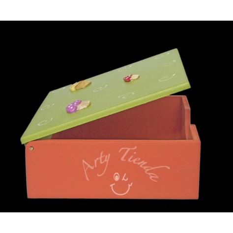 Country caja para servilletas en MDF